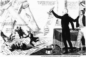 bank war andrew jackson. Modren Andrew A Cartoon Lithograph Praising Andrew Jackson For Destroying The Second Bank  Of United States And War